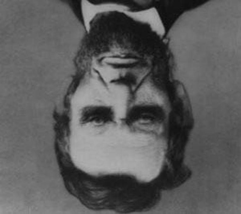 Зүгээр л урвуу харуулсан Линкольний зураг харагдаж байна уу?