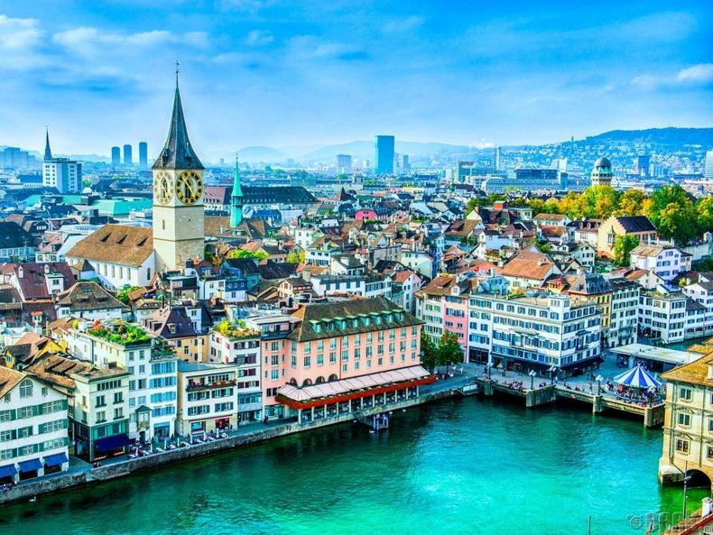 Швейцарь улс, Цюрих хот - 50.4%