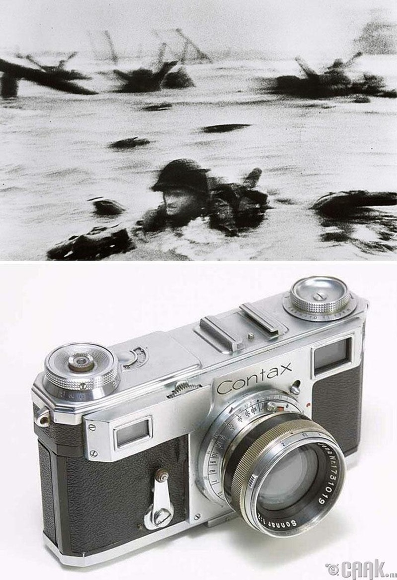 """""""Нормандийд буусан нь"""", Роберт Капа, 1944 он. """"Contax Ii"""" камер"""