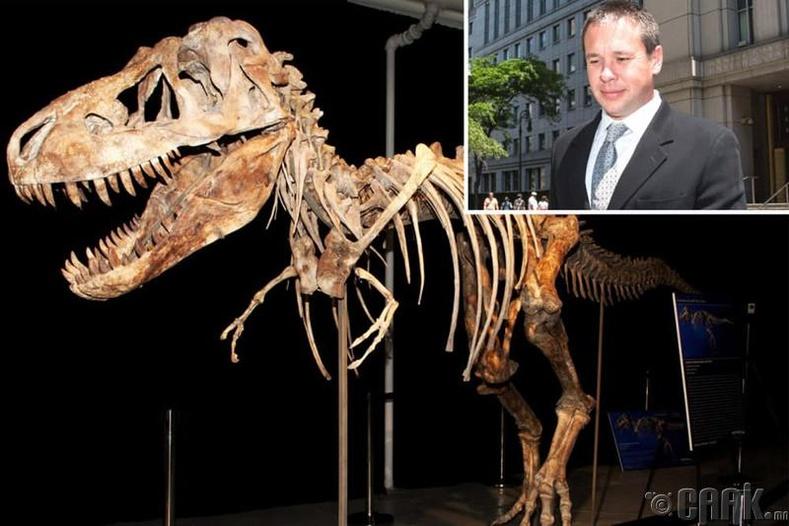 """T-Rex үлэг гүрвэлийн яс"""