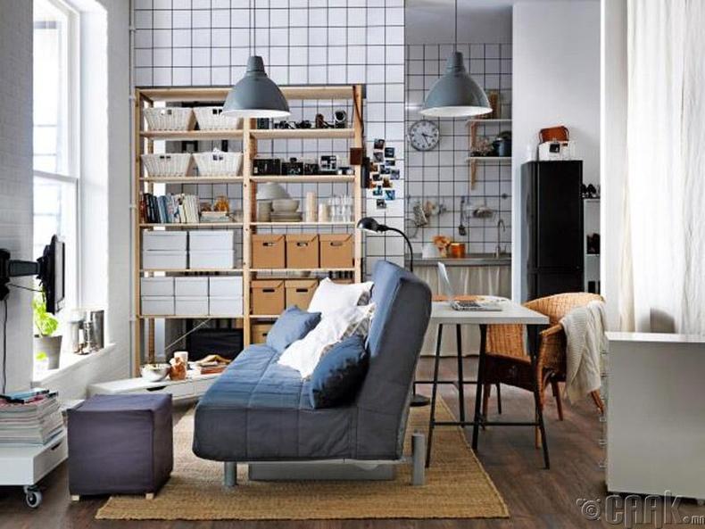 Номын тавиур ашиглан өрөөг хоёр хэсэгт хуваах