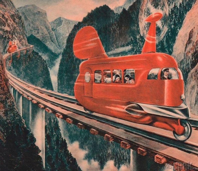 Сэнст хөдөлгүүртэй галт тэрэг, 1936 он