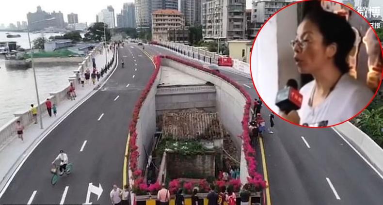 Зөрүүд Хятад эмэгтэй хурдны замын голд амьдрахаас өөр аргагүй болжээ