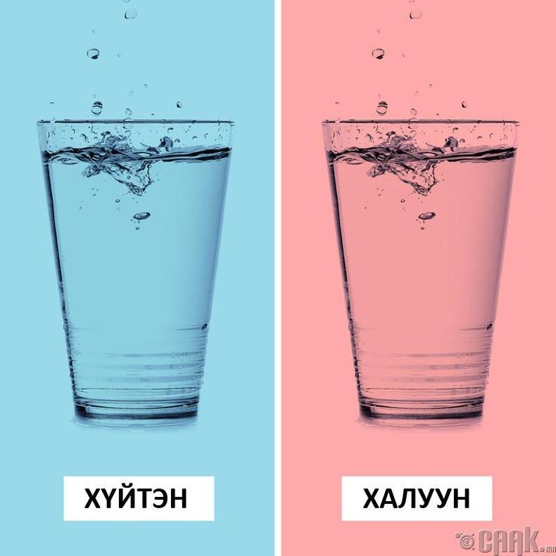 Усны гаргаж байгаа чимээгээр халуун хүйтнийг мэдэж болно
