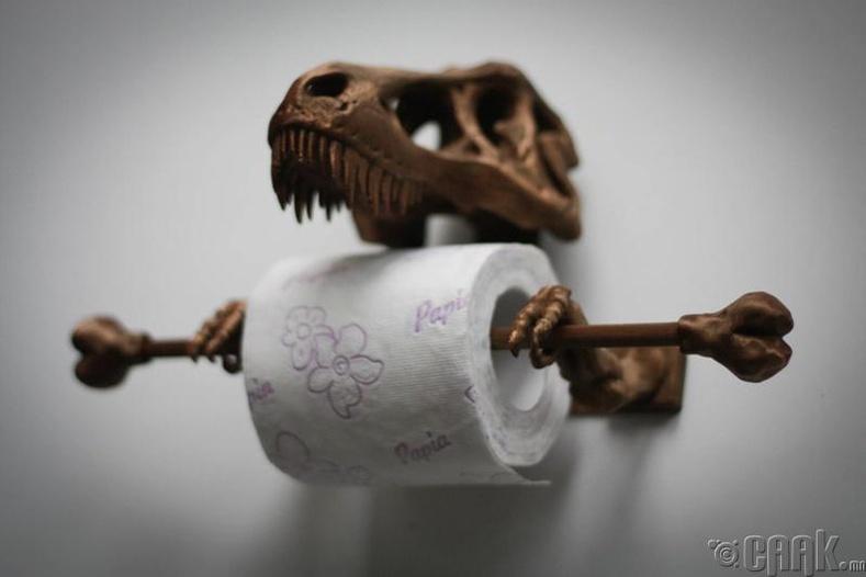 Үлэг гүрвэлэн ариун цэврийн цаасны өлгүүр