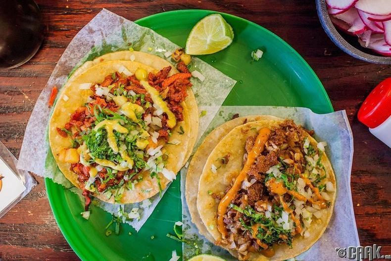 Мексик: Тако (Мексик үндэсний хоол)