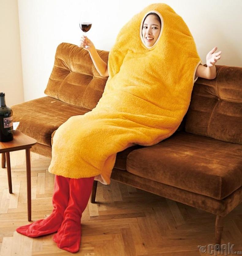 Сам хорхойны хэлбэртэй унтлагын хувцас