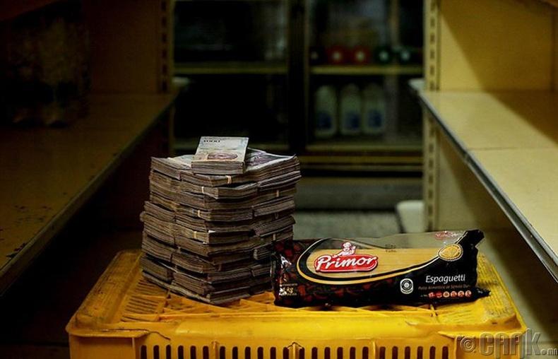 Нэг боодол гоймон - 2.5 сая боливар буюу 35 цент