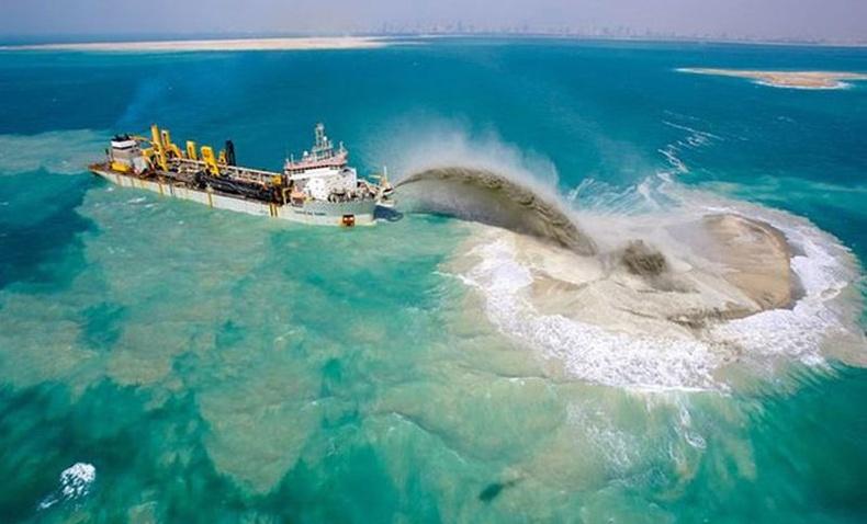 Дубайд хиймэл арлуудыг хэрхэн хийдэг вэ?