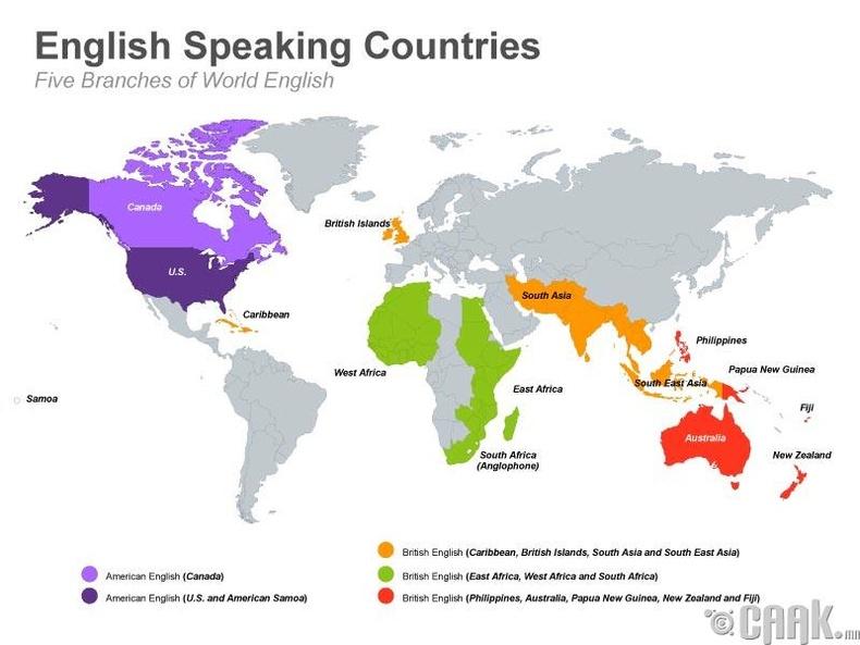 Англи хэлээр яригч хамгийн том улс