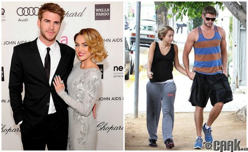 Лиам Хэмсворт ба Майли Сайрис /Liam Hemsworth, Miley Cyrus/