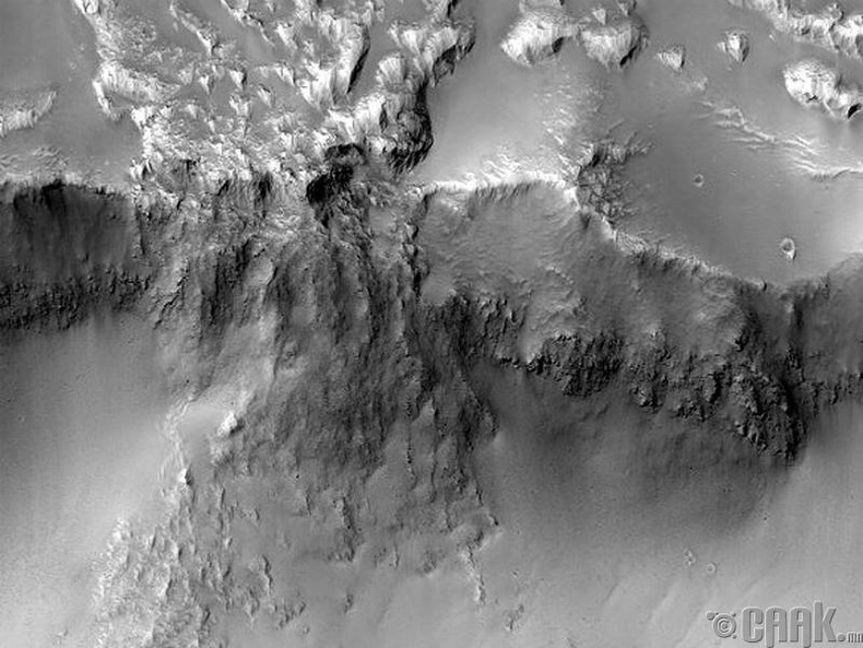 Ангараг дээр усан хүрхрээ байгаа
