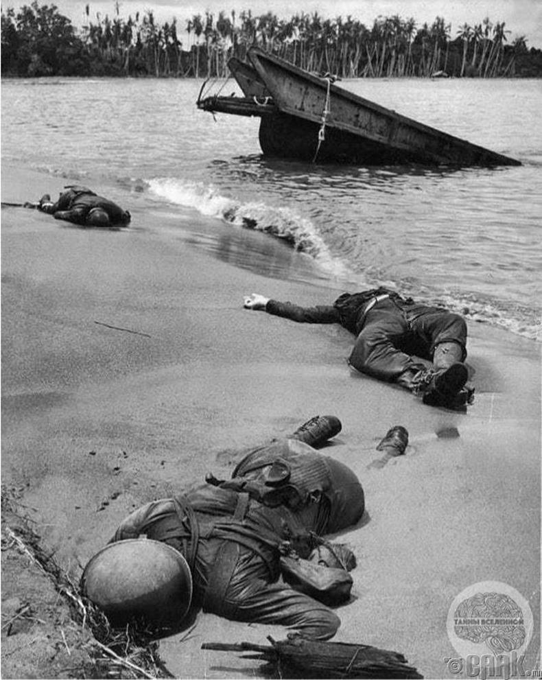 """""""Папуй Шинэ Гвинэйн Буна"""" далайн эрэг дээр амиа алдсан холбоотны цэргүүд - 1943 он"""