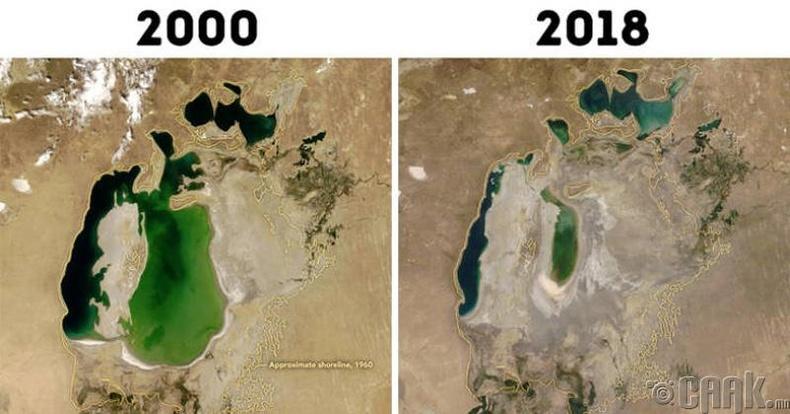 Харамсалтай нь Арал тэнгис бүрэн ширгэж дуусахад 20 жил хангалттай байлаа