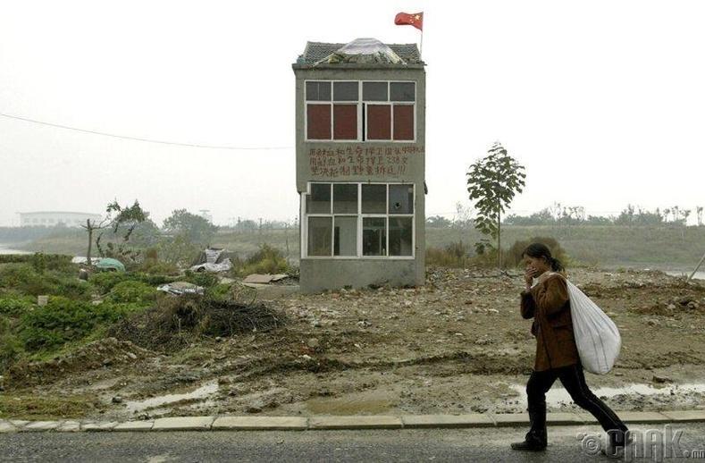 Нанжин хотын захын дүүрэгт үлдсэн хамгийн сүүлийн хуучны барилга