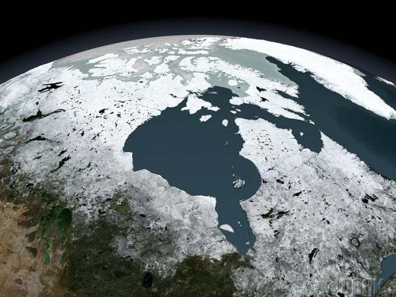 Канадын Гудзоны булан орчимд татах хүч дэлхийн бусад хэсгээс бага байдаг