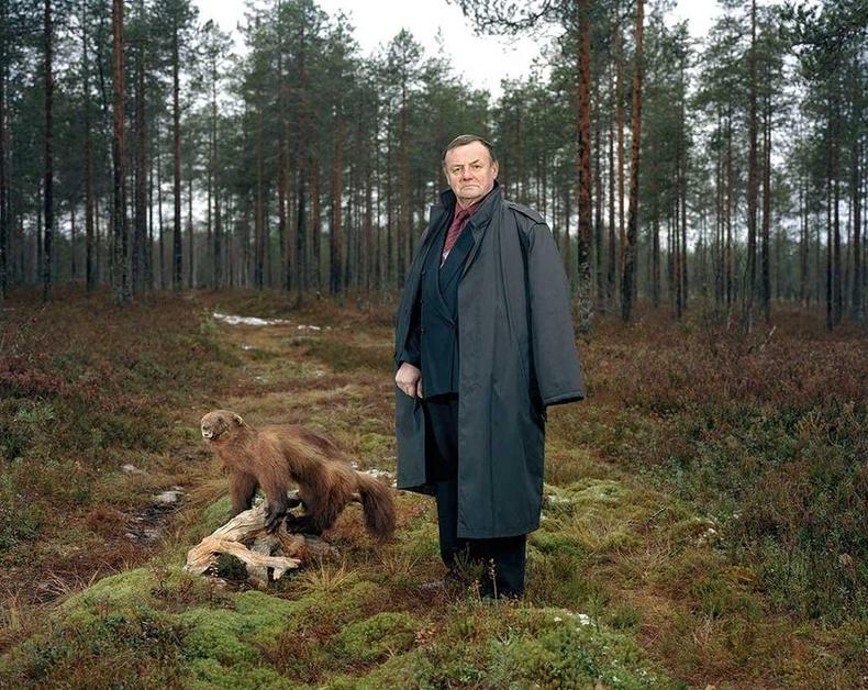 Тимо ба түүний агнасан нохой зээх. Финланд, 2014