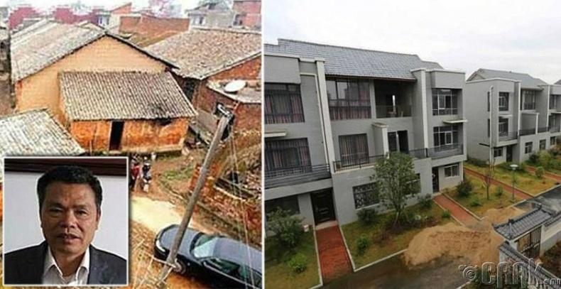 Хятадын саятан Сюн Шуйхуа тосгоныхоо хүмүүст тансаг байшин барьж өгчээ