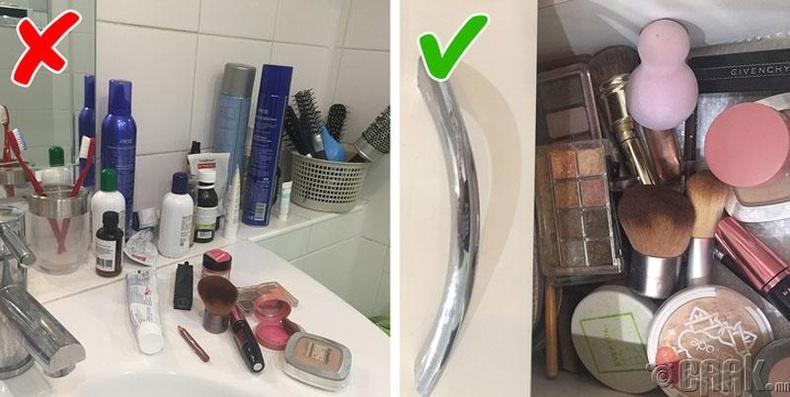 Гоо сайхны хэрэглэлээ угаалгын өрөөнд бүү орхиорой