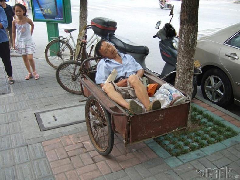 Хятадууд хүсвэл хаана ч унтаж чаддаг