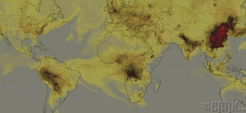 Ойн түймрээс болж үүссэн нүүрстөрөгчийн дан исэл