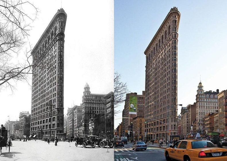 """Нью-Йорк хот дахь """"Flatiron"""" барилга 100 жилийн дараа"""
