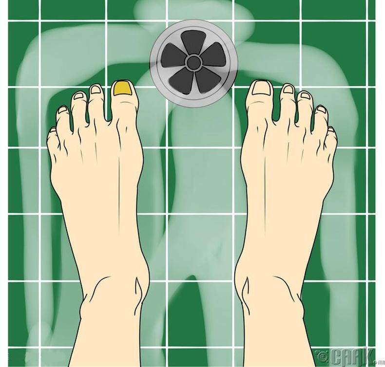 Хөлийг угаахгүй орхих