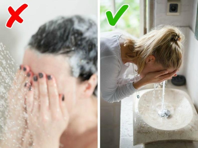 Шүршүүрт нүүрээ угаах