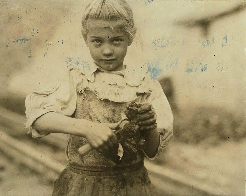 7 настай Роки Блаффтон, Өмнөд Каролина - Хясаа цэвэрлэгч