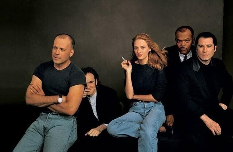 """""""Pulp Fiction"""" киноны нээлтэд зориулсан зураг авалт, 1994 он"""