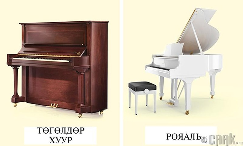 Төгөлдөр хуур болон рояаль