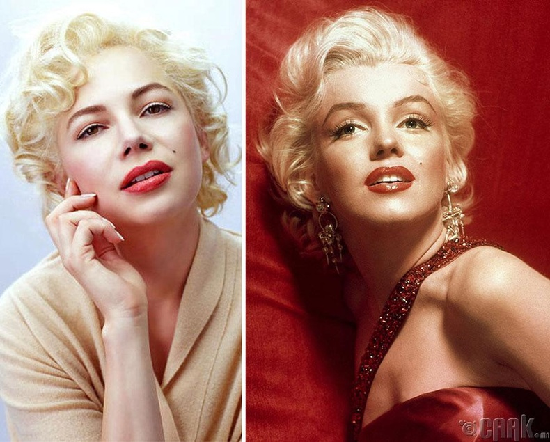 """Мишель Уильямс - """"My Week With Marilyn"""" киноны Мэрилин Монрогийн дүр"""
