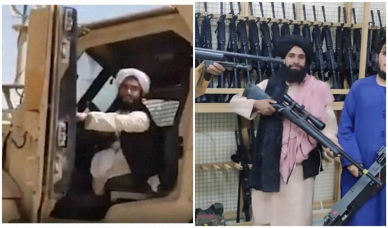 """Талибанчууд АНУ-аас """"бэлгэнд авсан"""" зэвсэг техникүүдээ гайхуулжээ"""