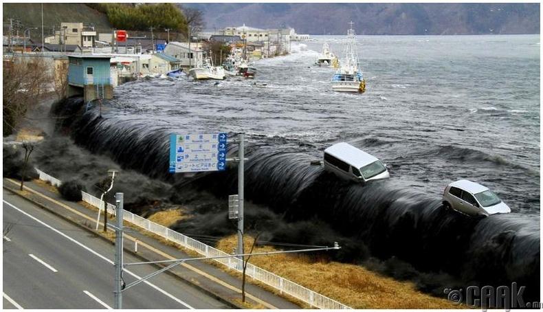 Япон улсад болсон цунамийн үеэр