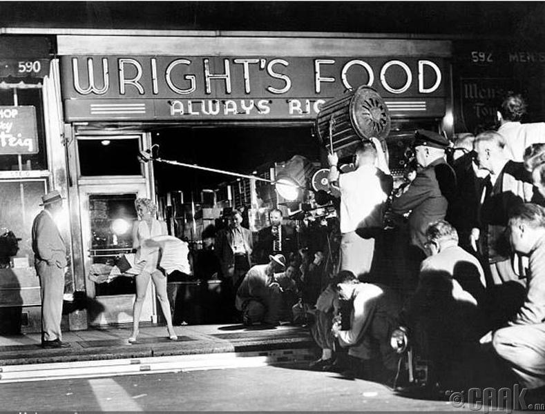 "Мэрилин Монро - ""The Seven Year Itch"" киноны зураг авалт (1955)"