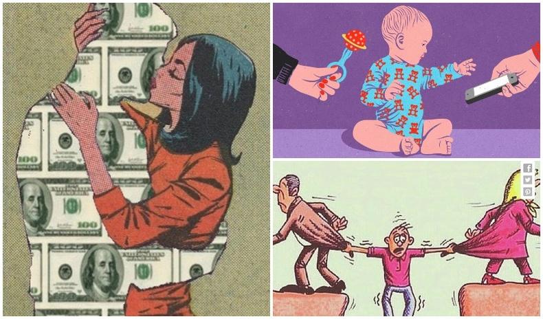 Орчин үеийн нийгмийг шүүмжилсэн шог зургууд
