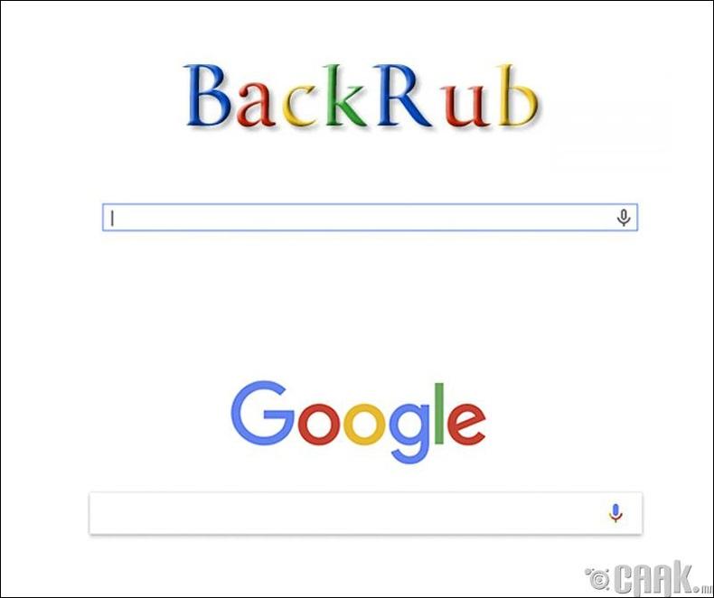 """""""Google"""" анх """"Backrub"""" гэсэн нэртэй байжээ"""