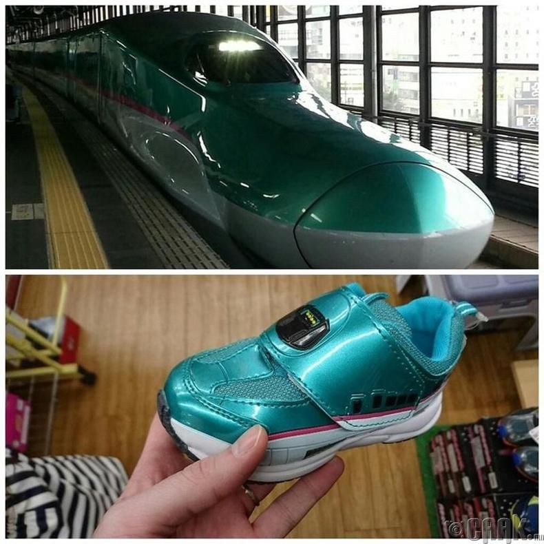 Галт тэрэгний хэлбэртэй гутал