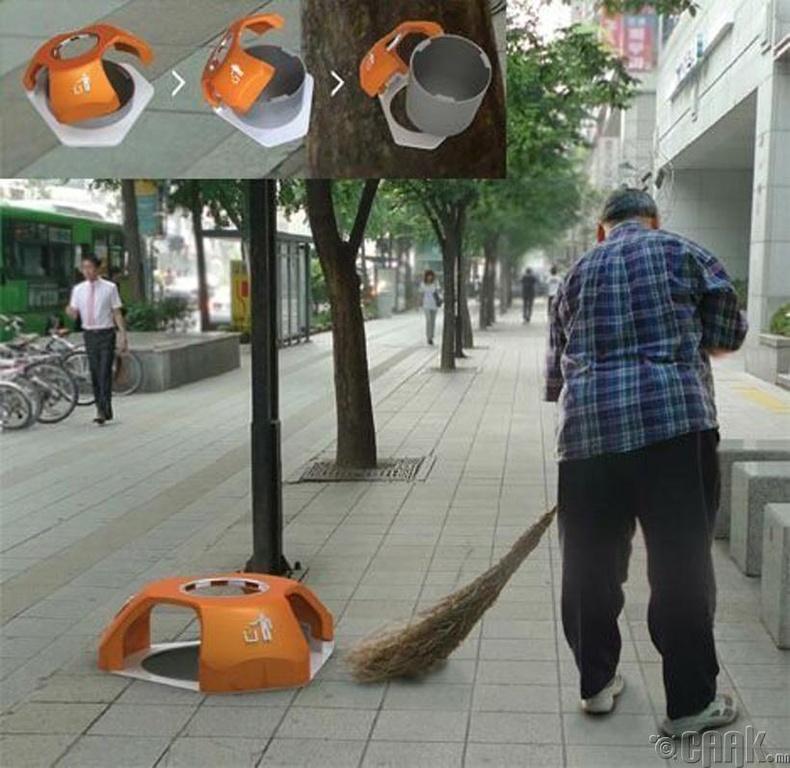 Гудамжны цэвэрлэгчид үнэхээр амар шийдэл