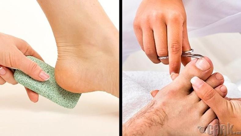 Хөлөө цэвэрлэх