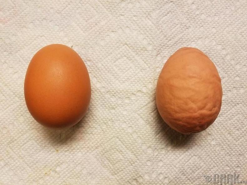 """Кальци хангалттай агуулаагүй """"үрчлээтэй """" өндөг"""