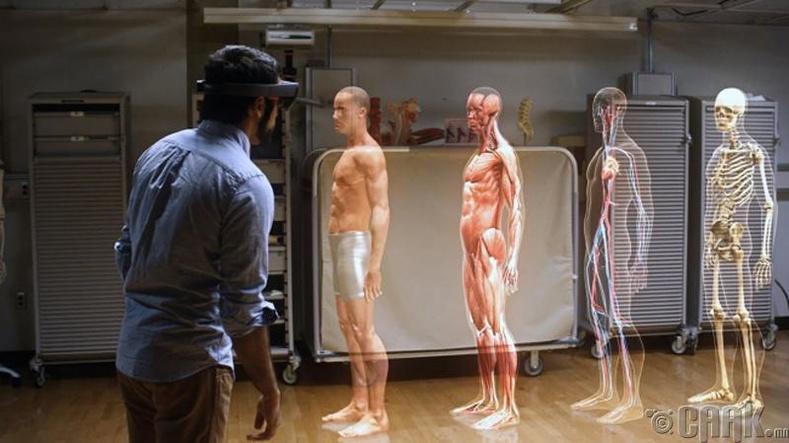 Биеийн бүтцийг хлограмаар буюу 3 хэмжээстээр харах