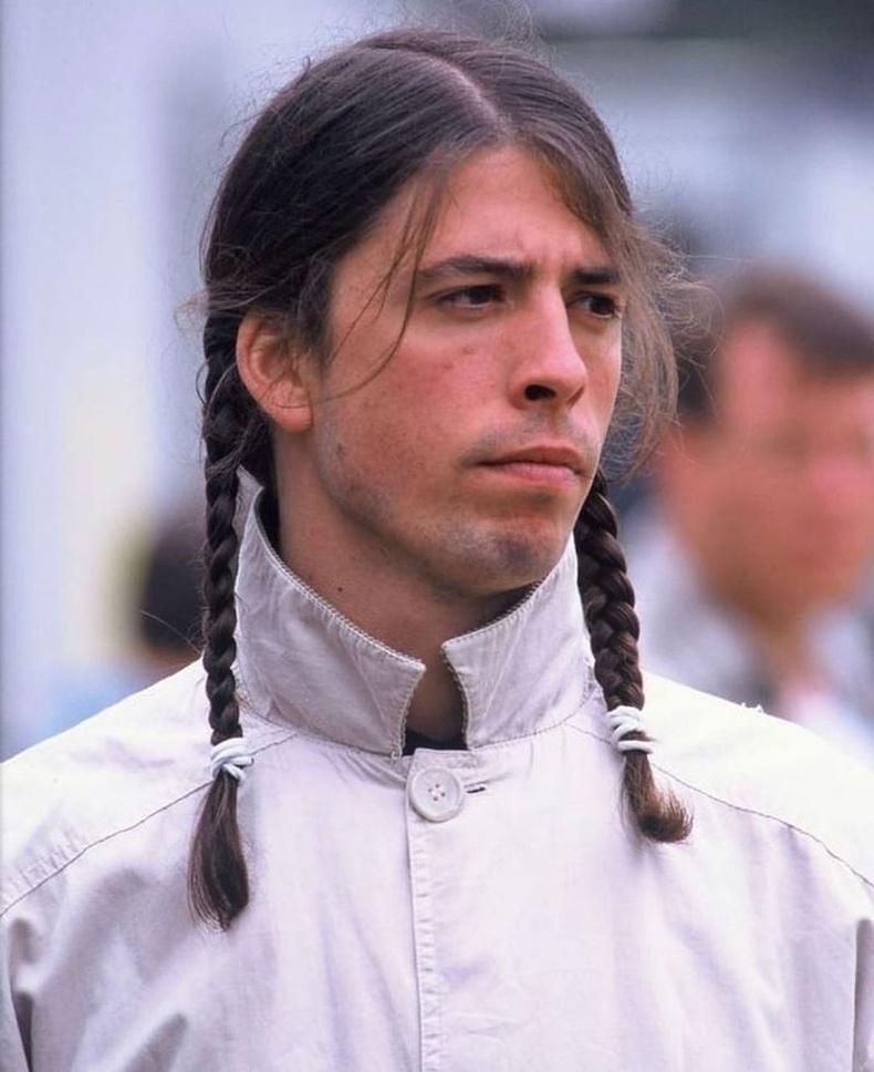 """""""Nirvana"""" хамтлагийн бөмбөрчин байсан Дэйв Грол, 1996"""