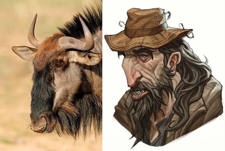 Wildebeest буюу Африкийн гну гөрөөс