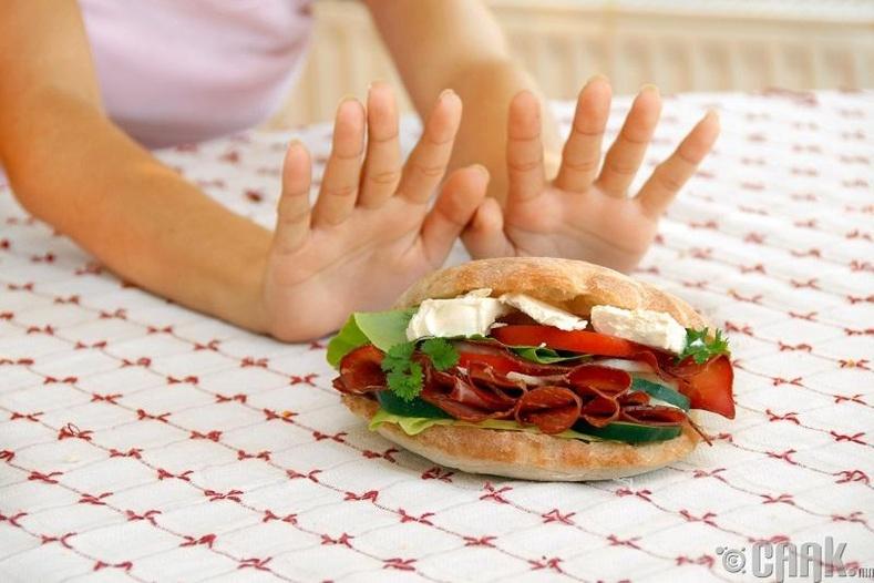 Хоолны дуршил багасах
