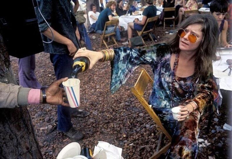 Женис Жоплин Woodstock фестивалын үеэр, 1969 он