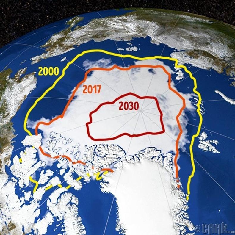 Арктикийн мөсөн бүрхэвч шинэ түвшинд хүрнэ - 2030 он