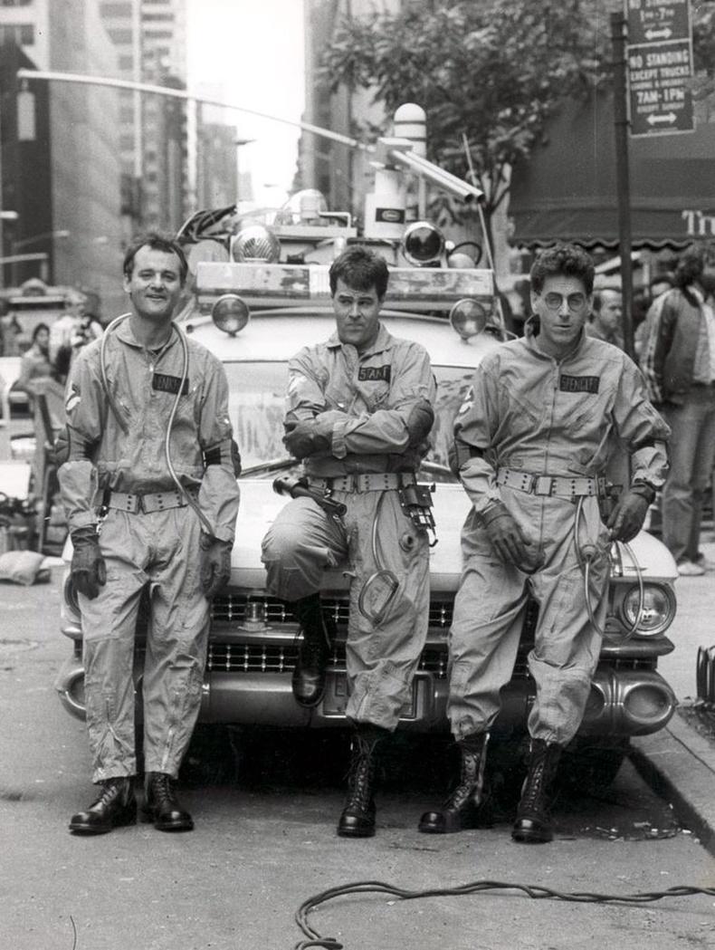 """""""Ghostbusters"""" киноны зураг авалтын үеэр, 1983 он."""
