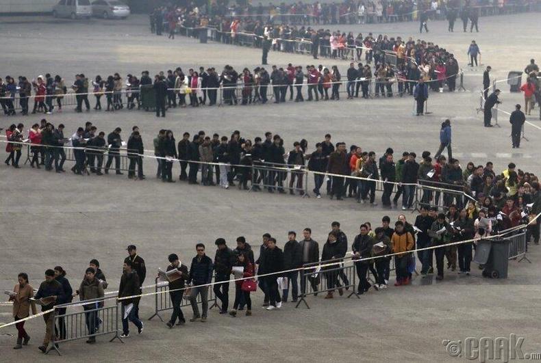 Хятадад болсон ажлын байрны өдөрлөг дээр