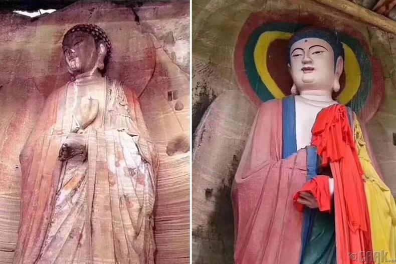 Хятадын Анью дахь 1000 жилийн настай Буддын хөшөө